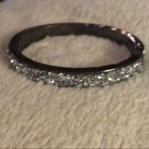 Ann Taylor Loft Druzy stone Hinged bracelet 🎀